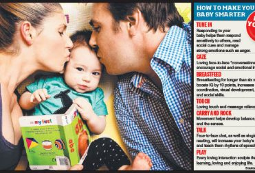 """""""Want a Brainy Baby? All you need is love"""", The Herald Sun"""