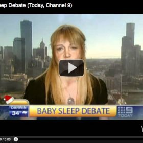 """Baby Sleep Debate"" Today, Channel 9"